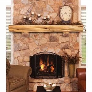 Pearl Mantels 72 U0026quot  Cedar Log Shelf W   Corbels And Mounting