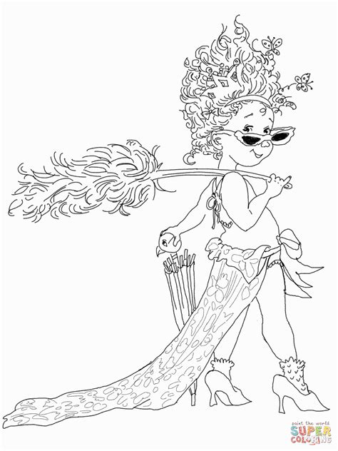 fancy nancy coloring pages coloring home