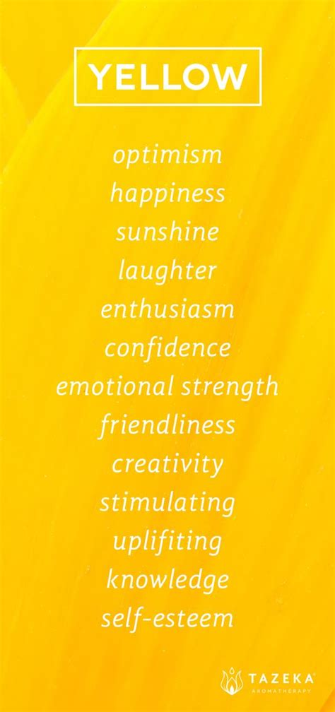 color yellow meaning yellow color psychology http www tazekaaromatherapy