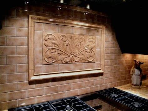 decorative kitchen tile backsplashes handmade decorative backsplash using toulouse tile and 6502