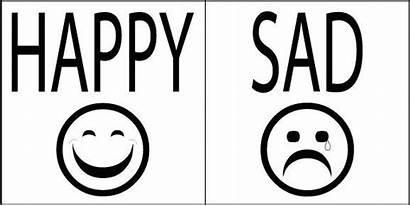 Sad Happy Coloring Face Clip Pages Clipart