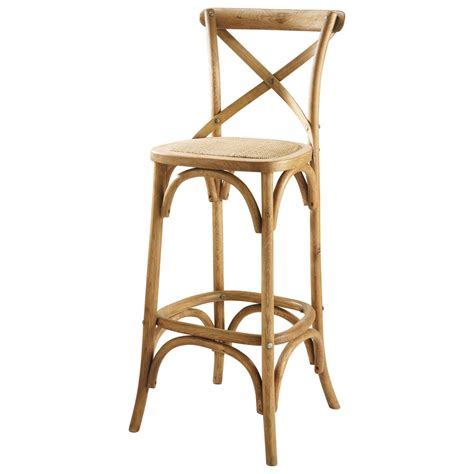 but chaise de bar chaise de bar en rotin et chêne tradition maisons du monde