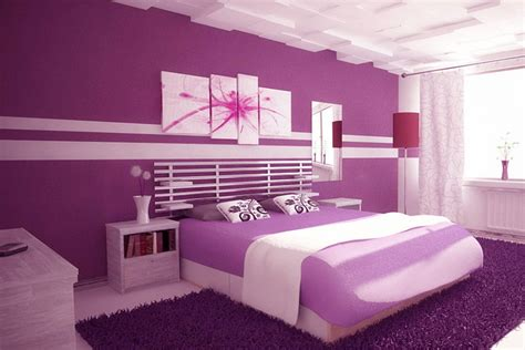 20 best collection of purple wall for bedroom wall