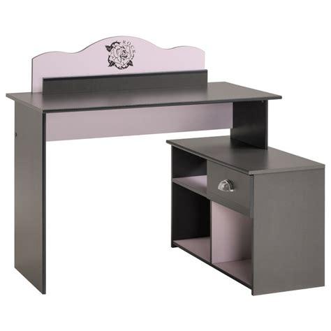 bureau gris bureau enfant quot flora quot gris