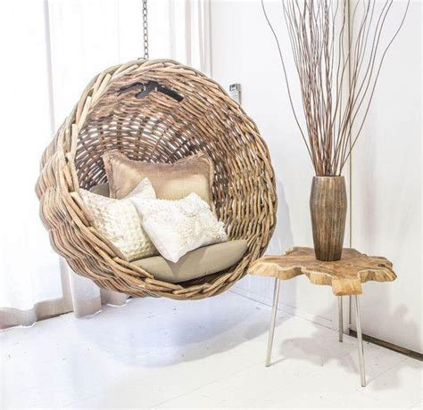 ebba rattan wicker hanging basket chair hanging out