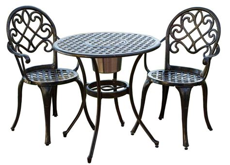 patio table and 2 chairs 3 pc outdoor bistro furniture set in brown walmart com