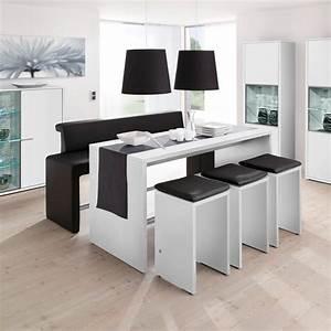 Table Cuisine Blanche : table haute pas cher ~ Teatrodelosmanantiales.com Idées de Décoration