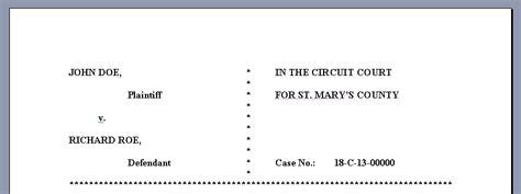 Court Motion Templates Free - Costumepartyrun