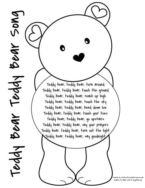 letter t teddy sorting creative preschool resources 388 | teddy bear teddy bear song page 001