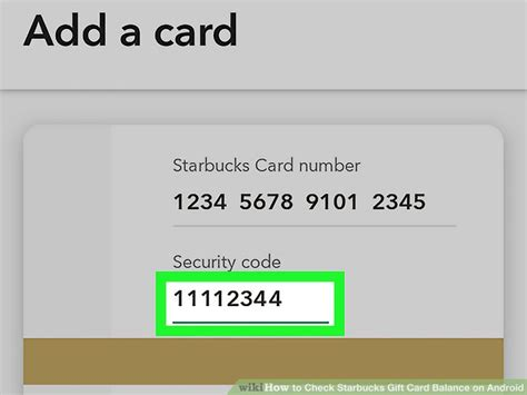 How To Check Starbucks Gift Card Balance On Android