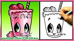How to Draw Easy Things - Fruit Smoothie + Funny Extra