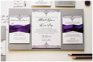 Purple and Silver Wedding Invitations - Gourmet Invitations