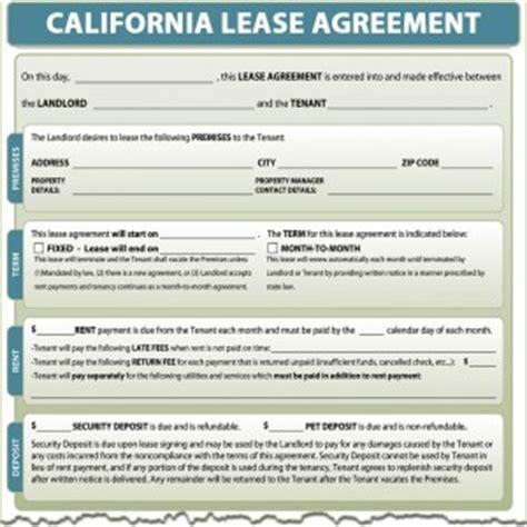 california lease agreement