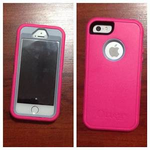 My case. Iphone 5/5s pink and gray otterbox defender case ...
