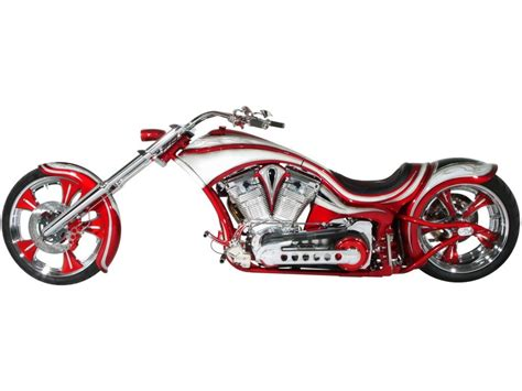 Covington's Rednwhite Custom Motorcycle