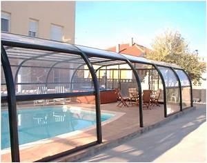 Abri Piscine Haut : l 39 abri de piscine net haut fixe cintr de net abris ~ Zukunftsfamilie.com Idées de Décoration