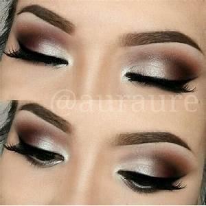 Silver/brown smokey eye   Makeup   Pinterest