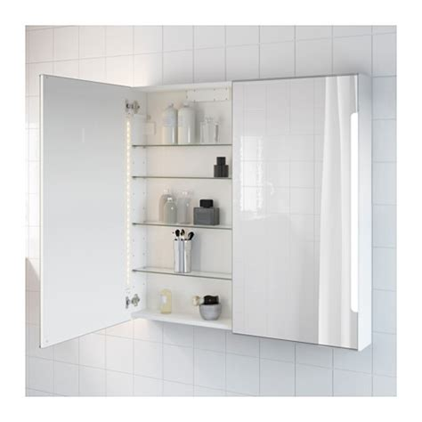 ikea bathroom mirror cabinet with light storjorm mirror cabinet w 2 doors light ikea