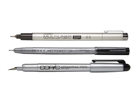 individual copic multiliners  drawing pens