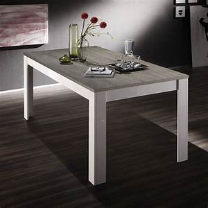 Table Bois Et Blanc. table manger bois et blanc angelien dimension ...