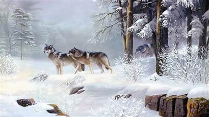 Winter Wallpapers Wolves Background Natural