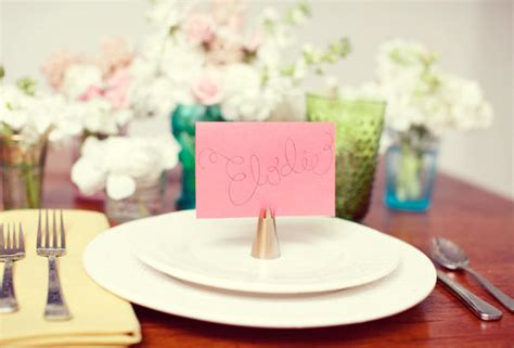 do it yourself wedding place card holder ideas diy cake icing tip place card holders once wed