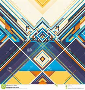 Colorful Geometric Graphic. Stock Vector - Image: 32225484