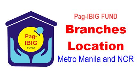 pag ibig fund branches location national capital region