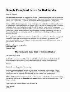 sample complaint letter poor service