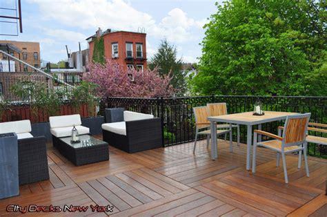 heights cumaru modular deck city decks new