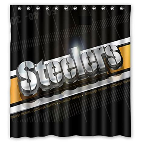 steelers shower curtains pittsburgh steelers shower