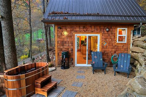 cabins in east with tubs tiny mountain cottage in nc