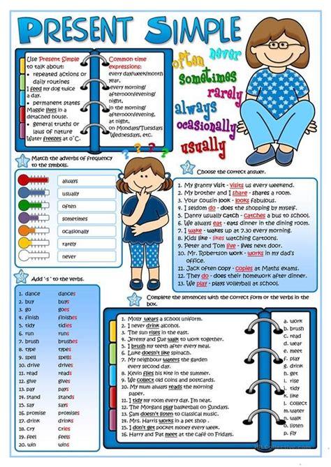 present simple tense english teaching materials learn