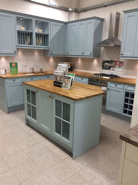 Hygena Kitchen Cupboards by Valetti Blue Homebase This Was My Original Thought Pea