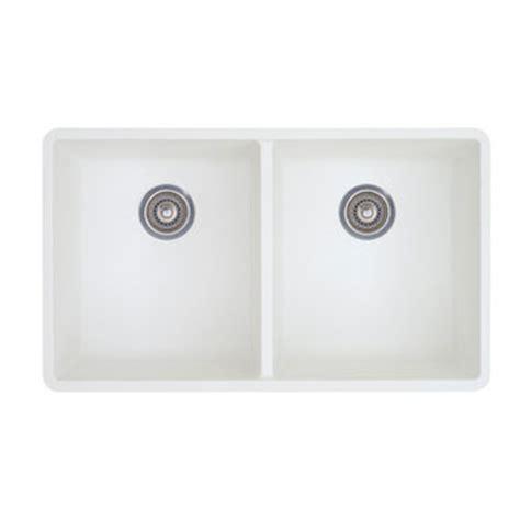 blanco  precis  equal double bowl kitchen sinks undermount white faucetdepotcom