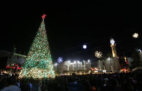 the orthodox christian channel occ247 christmas tree lighting in bethlehem photo video