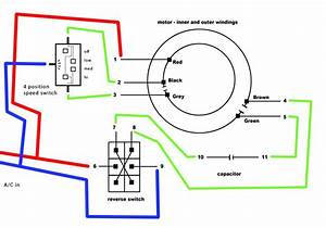 Electrical - Wiring Multispeed Psc Motor From Ceiling Fan