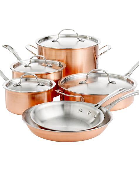 tri ply copper  piece cookware set cookware set copper kitchen copper cookware