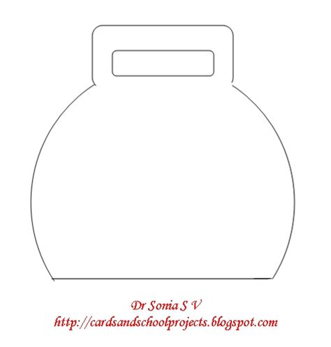 handbag card template free cards crafts projects bag shaped card and template