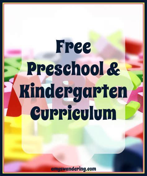 homeschool for free preschool amp kindergarten s 781 | Free Preschool and Kindergarten Curriculum