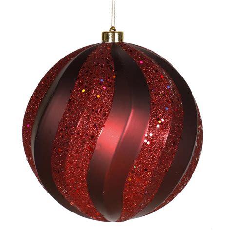 maroon christmas decorations 8 inch matte glitter swirl ornament burgundy m112105 vickerman