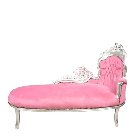 chaises baroque baroque pink and silver chaise lounge deco