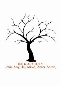 friendship tree template fingerprint tree family names With friendship tree template