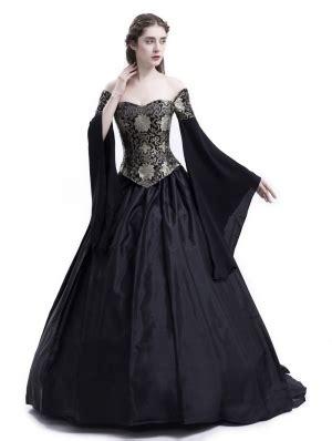 Vintage Black Victorian Ball Gowns Dresses
