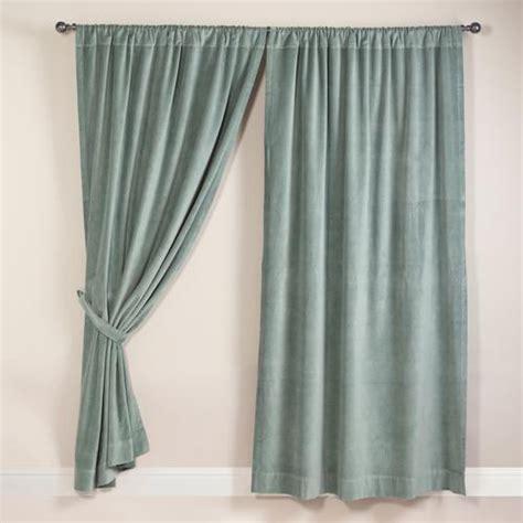 slate blue velvet curtain world market