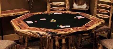 rustic cedar log poker tables