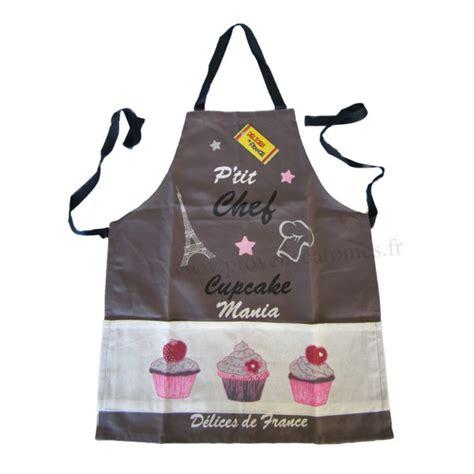 tablier cuisine enfants tablier de cuisine enfant cupcake p 39 chef gris