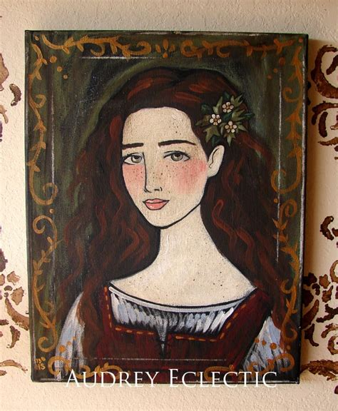Nut Brown Hair by Original Painting With The Nut Brown Hair
