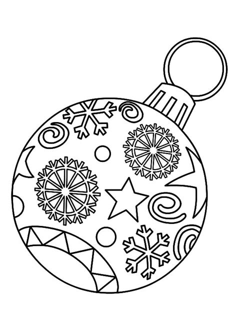 christmas ornament light bulb coloring pages