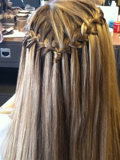 prom braid straight hair from the front google search